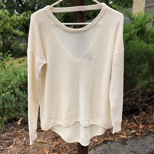 F21 Knit Sweater with Open Back